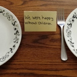 November 10: We were happy without children.